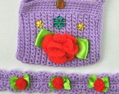 Crochet Headband and Purse Set for Children - Lilac