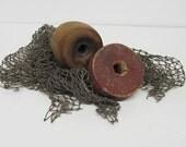 Vintage Fish Net, Netting and Floats, Beachy, Coastal Decor, Indoor Decor, Outdoor Decor