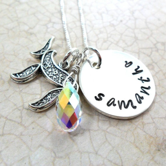 Bat Mitzvah Gift | Jewish Girl Necklace | Jewish Girl Jewelry | Name Plate Jewelry | Judaica | Chai Jewelry | Personalized Name Jewelry