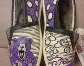 University of Central Arkansas Bears hand painted TOMS.