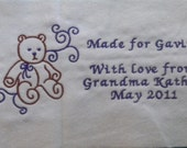 Examples of Five Dollar Machine Embroidered Quilt Labels