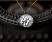 Horse Necklace - Vintage Western Horse Pendant