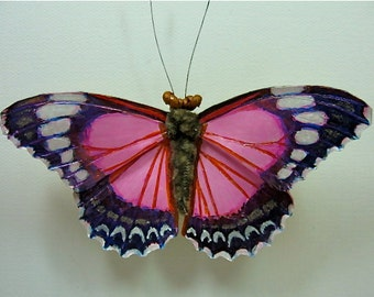 Red Lacewing Butterfly Brooch