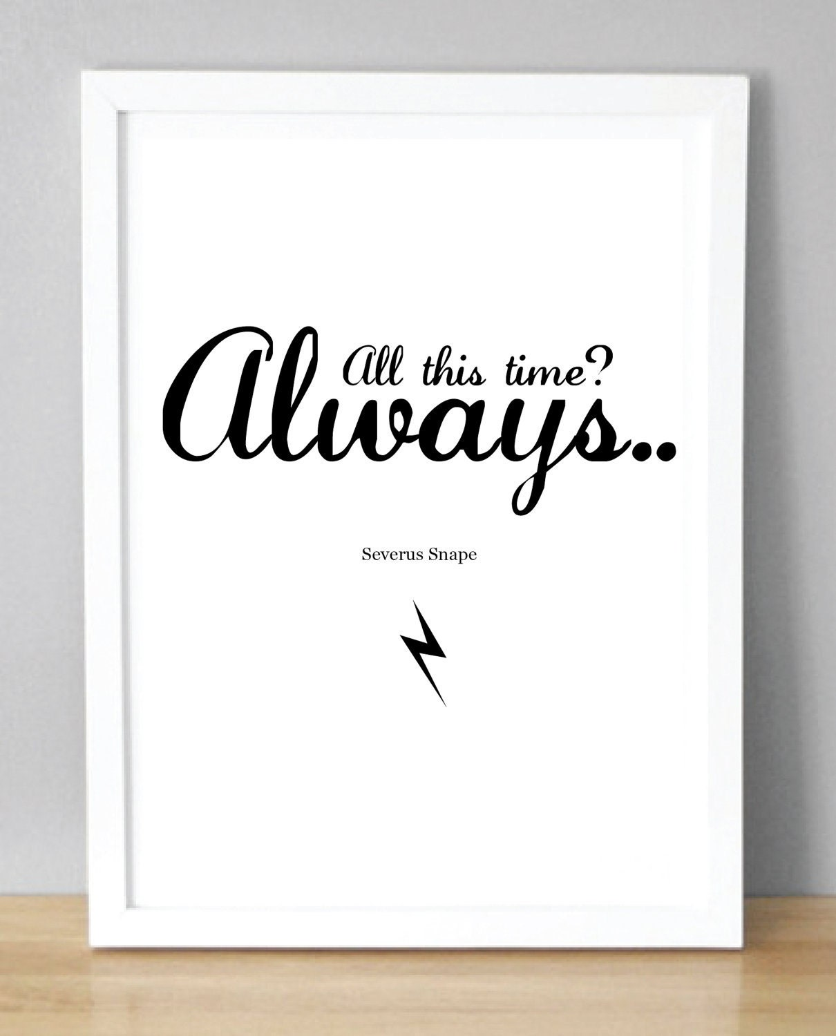 harry potter print severus snape always a5 by company owner business card title founder title on business card - Business Card Titles