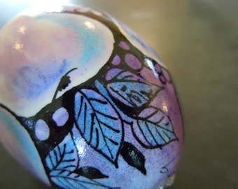 Hand-painted eggs...Grape-ish Fruit...