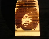 Jimi Hendrix Coasters, Branded - Solid Pine Wood