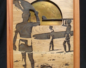 Endless Summer Poster Carved Wood Art