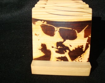 Hunter S. Thompson, Gonzo  Burned Image -If Desired Mix and Match 4 different designs       See Gomez Carvings Shop and add a note