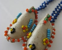 Reserved Beaded Moccasins Sead Bead Woven Necklace