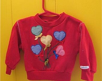 BALOON BOUQUET Fun Joggles Red Sweatshirt 2 T