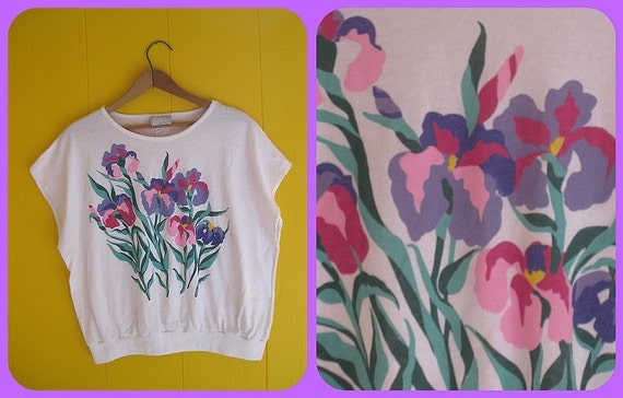 Flower Friends Set of TWO awesome Vintage Flower Printed Shirts