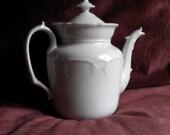 Antique French coffee pot and sugar bowl Porcelaine de Paris