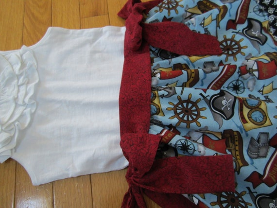 RESERVED Girl's Pirate Dress  2T  w/ Mickey