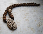 Benin - ooak clay beaded pendant from the Jewels of the World Collection, by Joo.gr