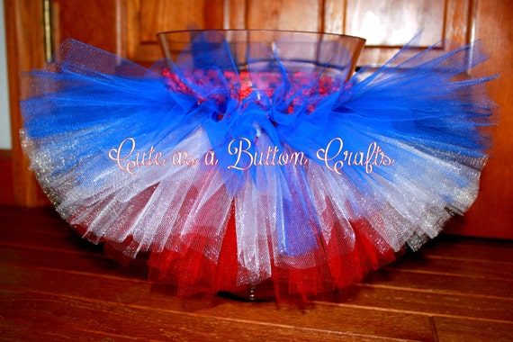 4th of July tutu Red White and Blue Patriotic Tutu Size 3 months, 6 months, 9 months, 12 months, 18 months, 24 months