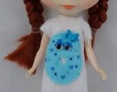Donutzie Dress Wedding Cake with Blue Frosting