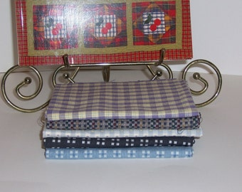 Quilt Kit Five Fabrics And Book Mad About Plaid by That Patchwork Place