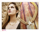 Super Star. Star Necklace - Gold Plated