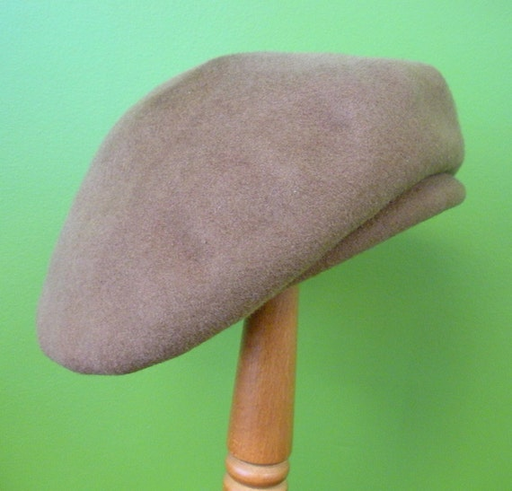 Vintage Brown Beret - Merrimac Hat Corp.