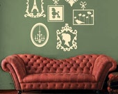 Elegant French Frame Collection Travel Wall Decal FREE SHIPPING