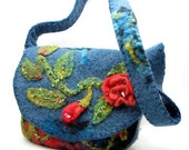 Heather Blue Felted Shoulder Bag