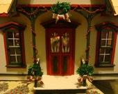 dollhouse, assembled. Christmas theme doll house