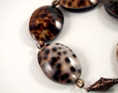 Leopard Print Cowrie Shell Bracelet