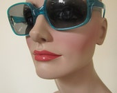 funky electric blue vintage sunglasses