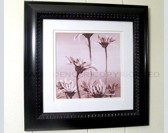 Pink Gerberas, Matted and Framed paper PRINT, Gerberas, Pink Flowers, Soft Pink, Flowers Print, Housewarming Gift, Gift for her