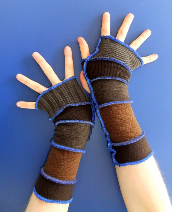 Fingerless Gloves - Eccentric Arm warmers - OOAK - Ready To Ship
