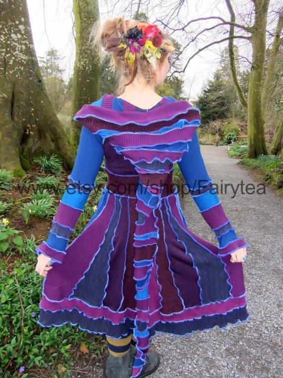 Purple maGicKaL Elf Coat Small Medium - RESERVED for VICTORIA
