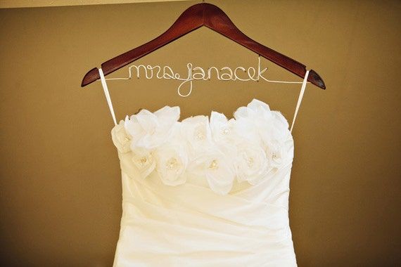 """Reserved Listing - Half Rush Order Custom Bridal Hanger - Only purchase this listing if your name is """"suzyqhart"""""""