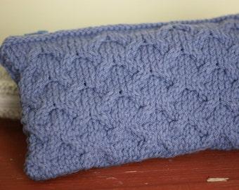 Clutch Purse Knit Violet Arches Pattern