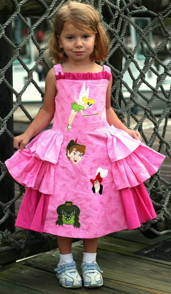Boutique Tinkerbell  & Friends in Pink Jumper Dress
