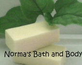 banana goats milk soap sample