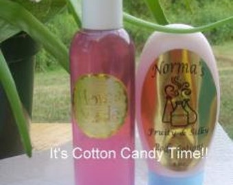 sweet cotton candy shower gel and lotion set