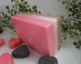 Neapolitan goats milk soap