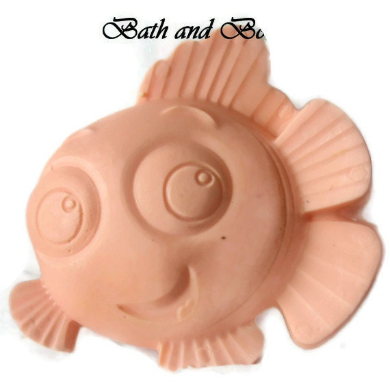 nemo the fish soap, nemo soap, kids soap, party soap favors, favors, gifts, handmade soap