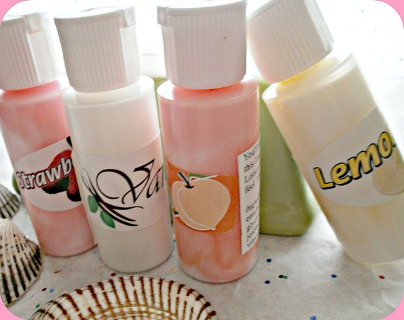 trial body lotions. set of 4