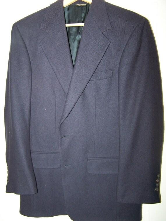 Close-Out Sale: Bill Blass Classic Navy Cashmere Mens Blazer 40 Reg