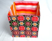 Fabric Storage basket/box  Organizer Bin ( only one left, ready to ship )