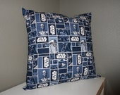 STAR WARS 18 inch Pillow Cover - Navy Block (Sham Back)