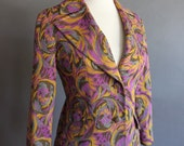 Vintage Tailored Jacket in Bohemian Floral Woven Print