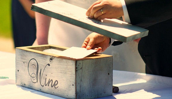 Wedding Wine Box Featured at the Etsy Wedding Event