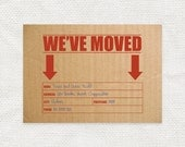 printable moving announcement postcard digital file moving postcard new address card change of address packing box funny card - cardboard