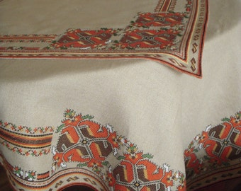 Handmade embroidered table stole