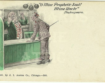 Shakespeare Quote - Published by J. I. Austen Co. Chicago - 1900 - 1909 Comic Vintage Postcard