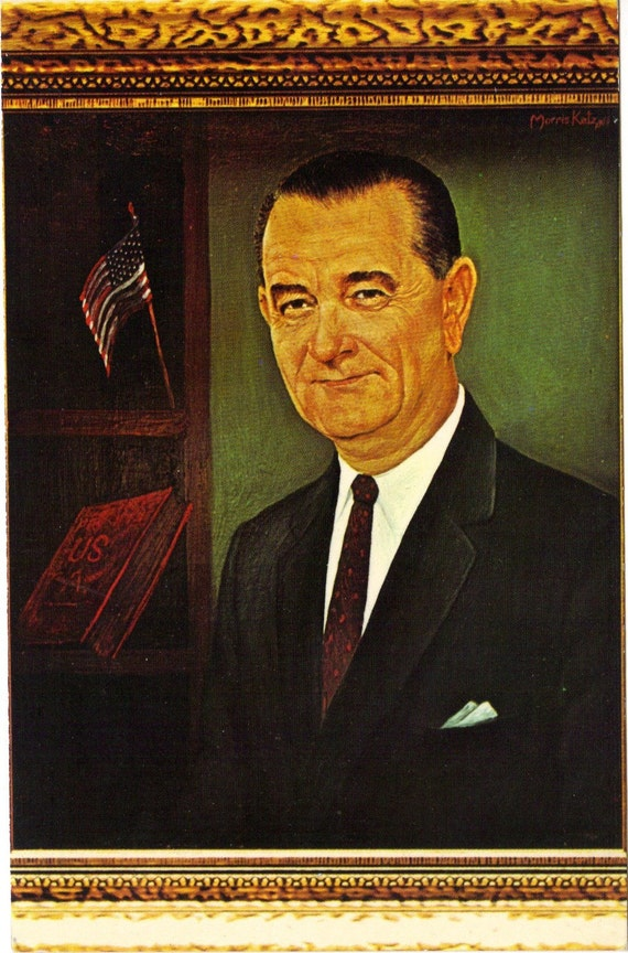 Vintage Postcard President Lyndon Johnson