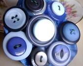 Bespoke Handmade Button Hair Slide