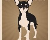 Warning. Angry Dog. Chihuahua.